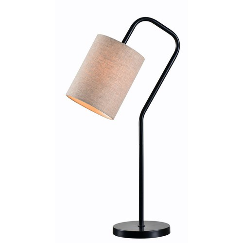 Kenroy Home Flamingo 29 in. Bronze Table Lamp with Oatmeal shade