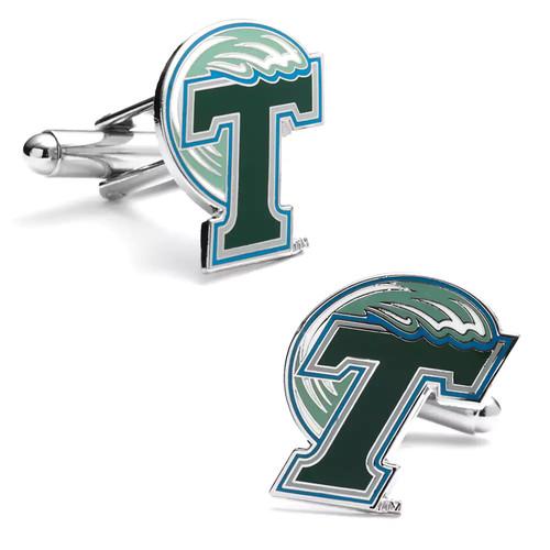 Tulane Green Wave Cuff Links