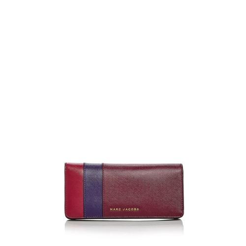 MARC JACOBS Open Face Color Block Saffiano Leather Wallet