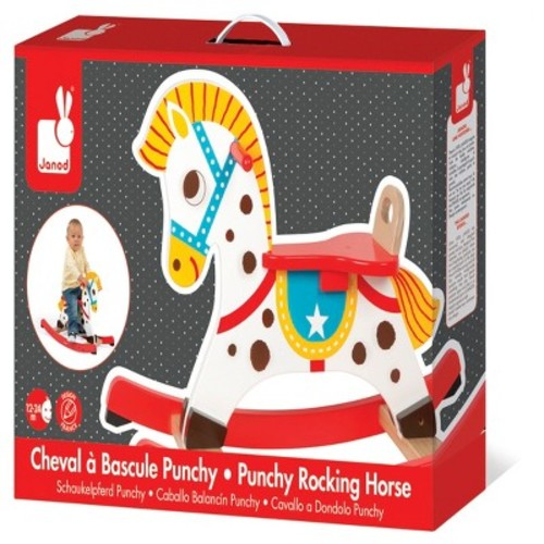 Janod Punchy Rocking Horse Wooden Toy