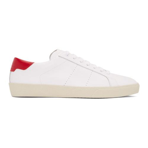 SAINT LAURENT White Sl/06 Court Classic Sneakers