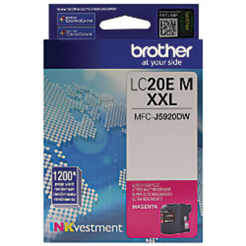 Brother INKvestment LC20EM Extra High Yield Magenta Ink Cartridge