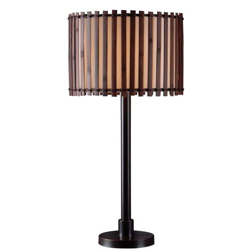 Kenroy Home Bora Outdoor Table Lamp, Bronze