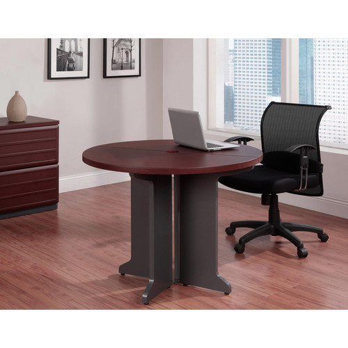 Dorel Pursuit Cherry/Gray Round Table