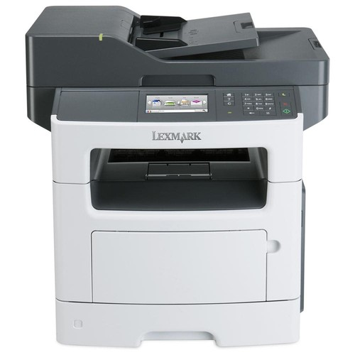 Lexmark MX511DE Laser Multifunction Printer - Monochrome - Plain Paper Print - Desktop - Copier/Fax/Printer/Scanner - 42 ppm Mono Print - 1200 x 1200 dpi Print - 42 cpm Mono Copy - 4.3