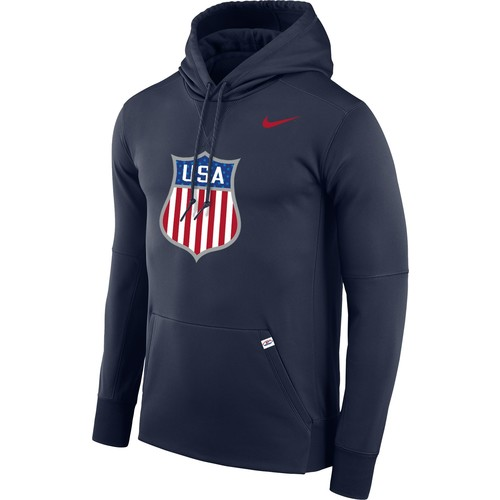 Nike Men's USA Hockey Therma-FIT Navy Pullover Hoodie