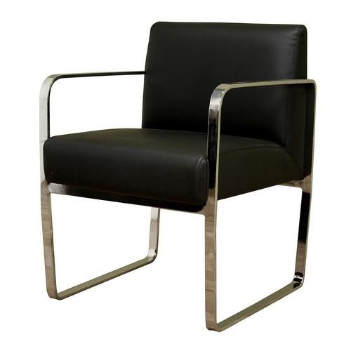 Baxton Studio Meg Bonded Leather Chair