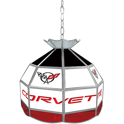 Trademark Global Corvette C5 Stained Glass Tiffany Lamp - 16 inch diameter