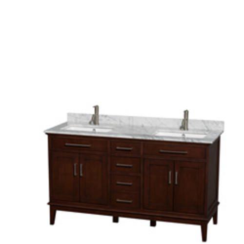 Hatton Collection 60 in Double Bathroom Vanity in Dark Chestnut [WCV161660DCDCMUNSMXX]