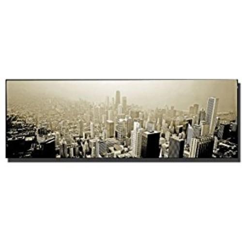 Chicago Skyline by Preston, 10x24-Inch Canvas Wall Art [10x24-Inch]