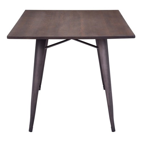 Titus Rectangular Rustic Bamboo and Antiqued Steel Dining Table