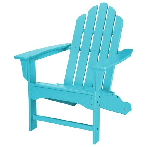 Hanover All-Weather Patio Adirondack Chair in Aruba Blue