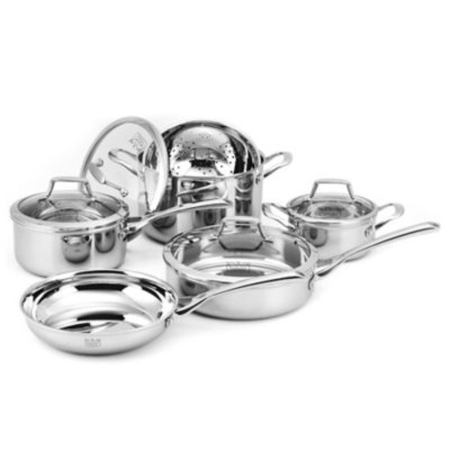 Kucht Culinary Professional Tri-Ply Stainless Steel 10-Piece Cookware Set