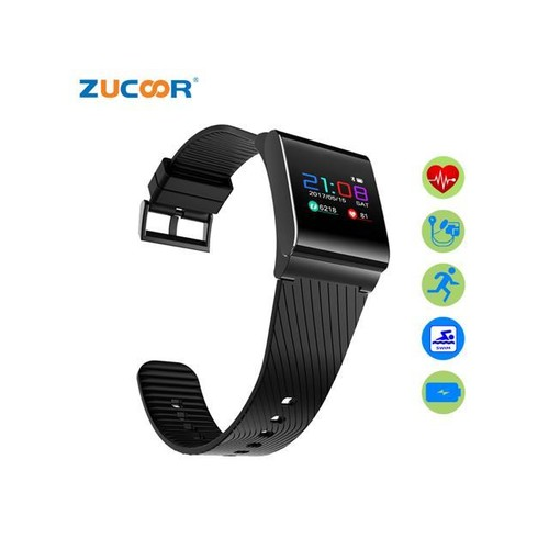 ZUCOOR Smart Bracelet Blood Pressure Tracker RB54 Fitness Electronics Pedometer Wristband Pulsometer Wristbands (Black)