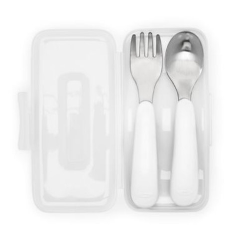 OXO Tot On-the-Go Fork and Spoon Set in Aqua