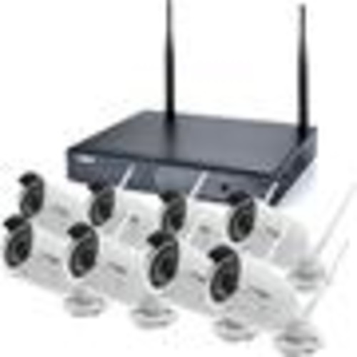Spyclops SPY-NVR8720W Wireless Camera System 8-channel HD video surveillance kit with NVR and 8 wireless bullet cameras