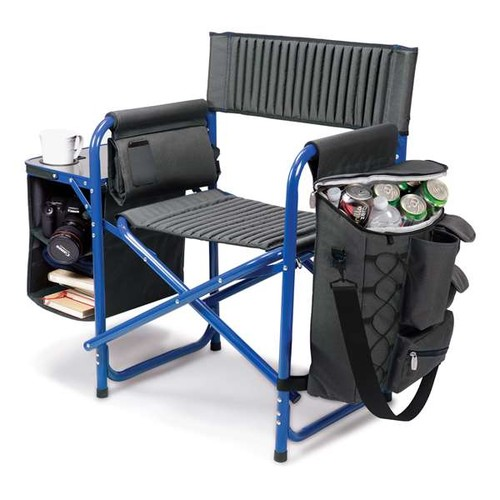Picnictime Fusion Chair Dark Grey with Blue