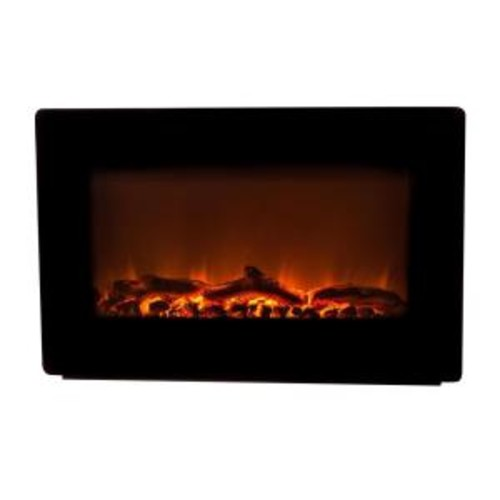 Fire Sense 30 in. Wall-Mount Electric Fireplace in Black