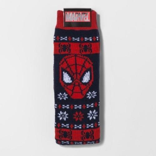 Men's Spider-Man Sweater Socks - Navy 10-13