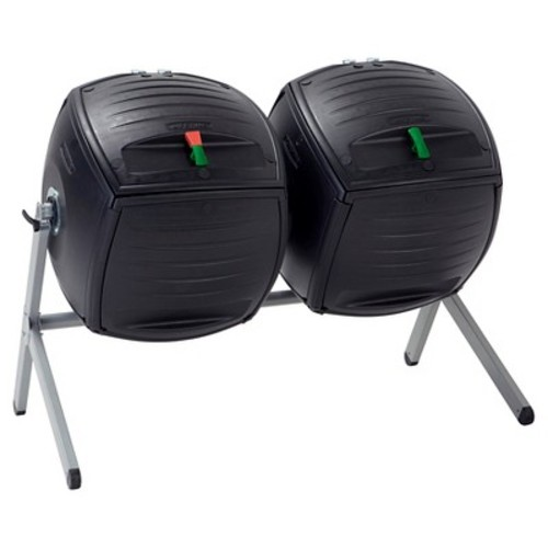 Lifetime Two 50 Gallon Dual Compost Tumbler s - Black