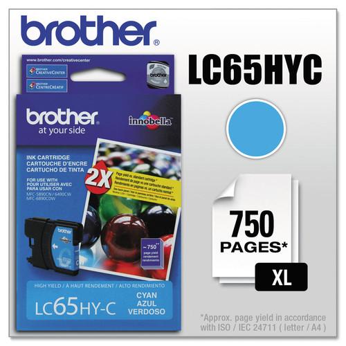 Brother BRTLC65HYC LC65HYC Innobella High-Yield Ink, Cyan