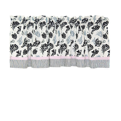 Laugh, Giggle & Smile Versailles Pink Window Valance - 54
