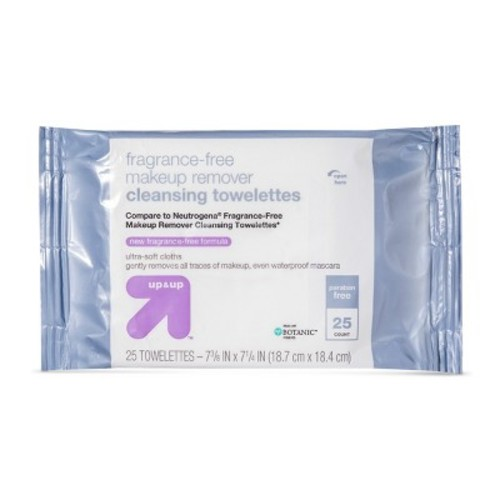 Fragrance Free 25 ct Facial Wipes - up & up