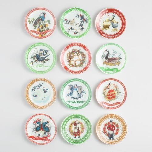 12 days of Christmas Plates Set of 12