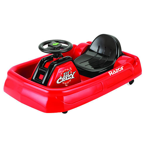 Razor Jr. Lil' Crazy Cart 6 Volt Powered Ride On - Red