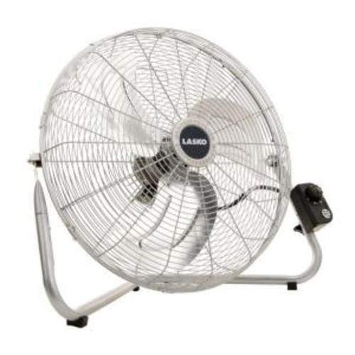 Lasko 20 in. High-Velocity Floor or Wallmount Fan in Chrome