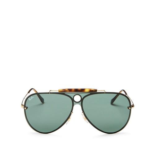 Blaze Rimless Shooter Aviator Sunglasses, 132mm