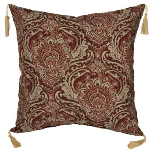 Venice 2pc Outdoor Toss Pillow Set with Tassels - Red - Bombay Outdoors