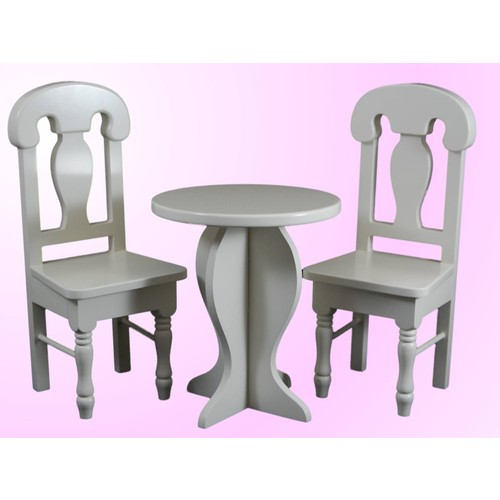 The Queen's Treasures Cafe Table and Chair Set for 18 inch Doll