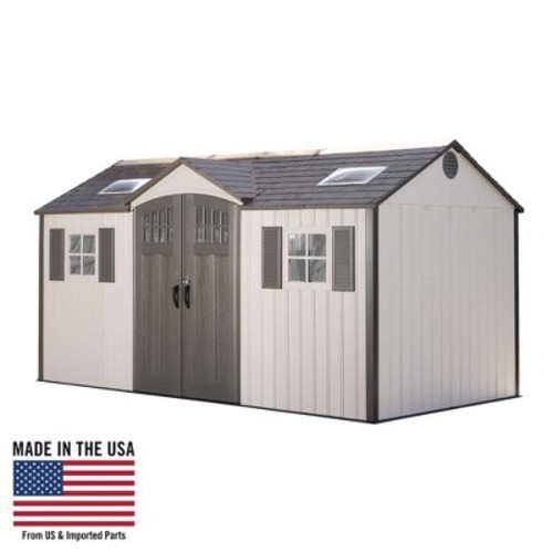 Storage Building Shed - 15 'x 8' - Desert Sand - Lifetime