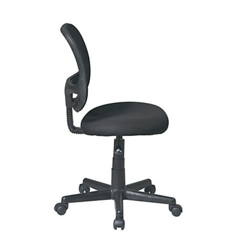 Office Star Work Smart Mesh Screen Back Task Chair, Without Arms, Black