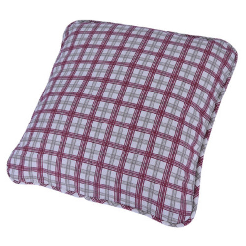 Leo Two-Tone Plaid Toss Pillow in Red