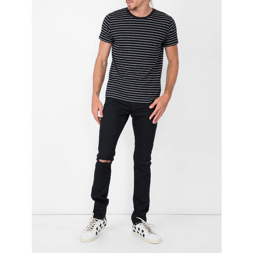 SAINT LAURENT Busted Knee Slim Fit Jeans