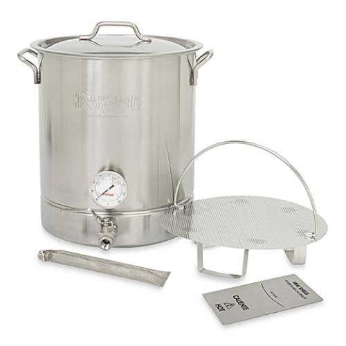 Bayou Classic 8-Gallon Premium Brew Kettle in Stainless Steel