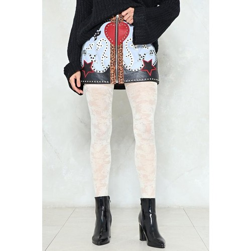 Floral or Less Pattern Tights