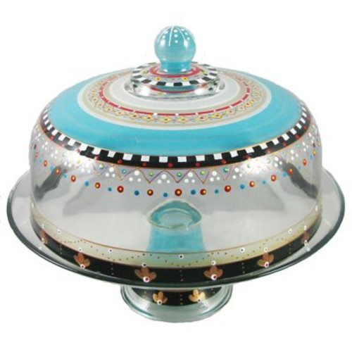 Golden Hill Studio Mosaic Carnival Cake Stand