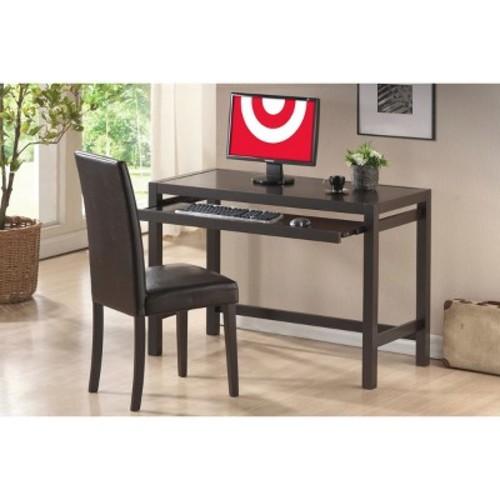 Astoria Modern Desk and Chair Set Dark Brown - Baxton Studio