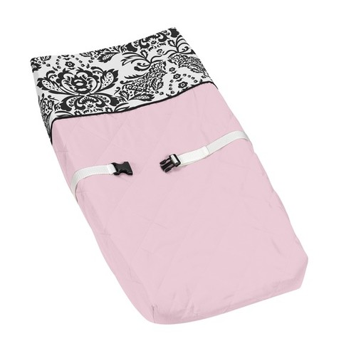 Sweet JoJo Designs Pink Sophia Changing Pad Cover