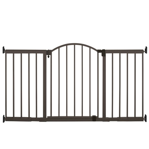 Summer Infant Metal Expansion Gate, 6 Foot Wide Extra Tall Walk-Thru [Bronze]