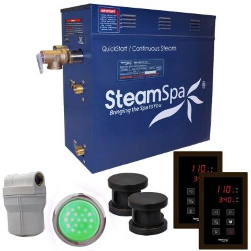 SteamSpa Royal 12kW QuickStart Steam Bath Generator Package in Polished Oil Rubbed Bronze
