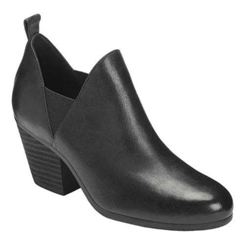 Women's Aerosoles Levitate Bootie Black Leather