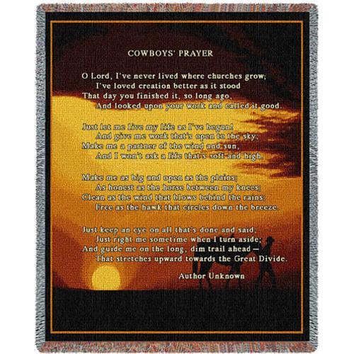 Cowboy Prayer Blanket