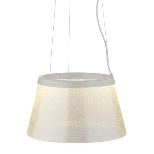 LBL Lighting Duke 1-Light Satin Nickel Clear LED Hanging Pendant with Fizz Suspension