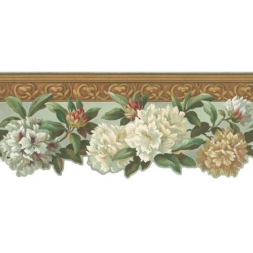 York Wallcoverings Inspired By Color Rhododendron Wallpaper Border