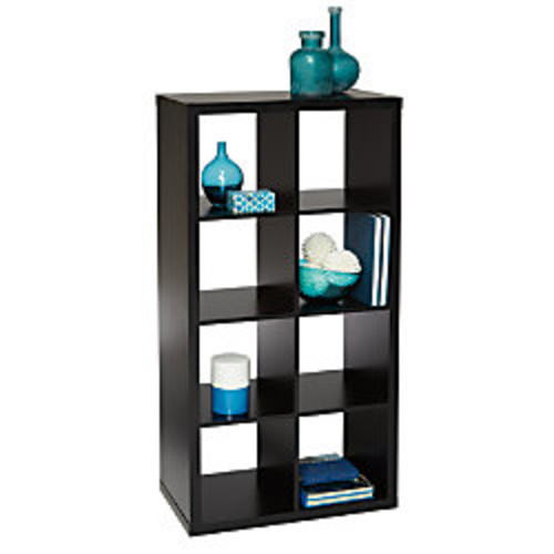 Brenton Studio Cube Bookcase, 8-Cube, Black