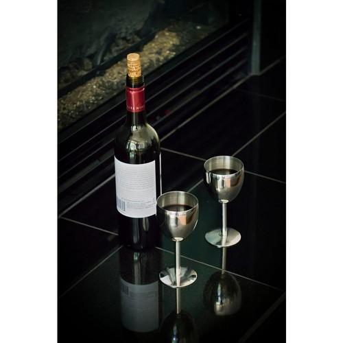 Visol Antoinette Stainless Steel Wine Glass (Set of 2)
